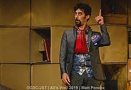 All's Well That Ends Well by William Shakespeare, Jermyn Street Theatre, 16 B Jermyn Street, London SW1 to 30 November 2019. 4****. William Russell
