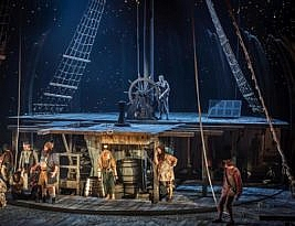 Treasure Island by Robert Louis Stevenson adapted by Bryony Lavery. National Theatre on You Tube. Until 22 April.  4**** William Russell