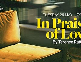 In Praise of Love by Terence Rattigan. Jermyn Street theatre on line until 2 June 7.30pm. 4****. William Russell.