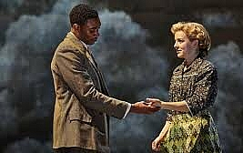 Small Island by Helen Edmundson based on the novel by Andrea Levy. National Theatre Live to 25 June 2020. 5*****. William Russell.