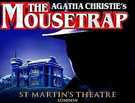 The Mousetrap by Agatha Christie. St Martin's Theatre, St Martin's Lane, London is re-opening.