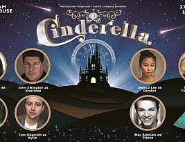 Cinderella goes to the ball in Nottingham Playhouse on 27 November. William Russell